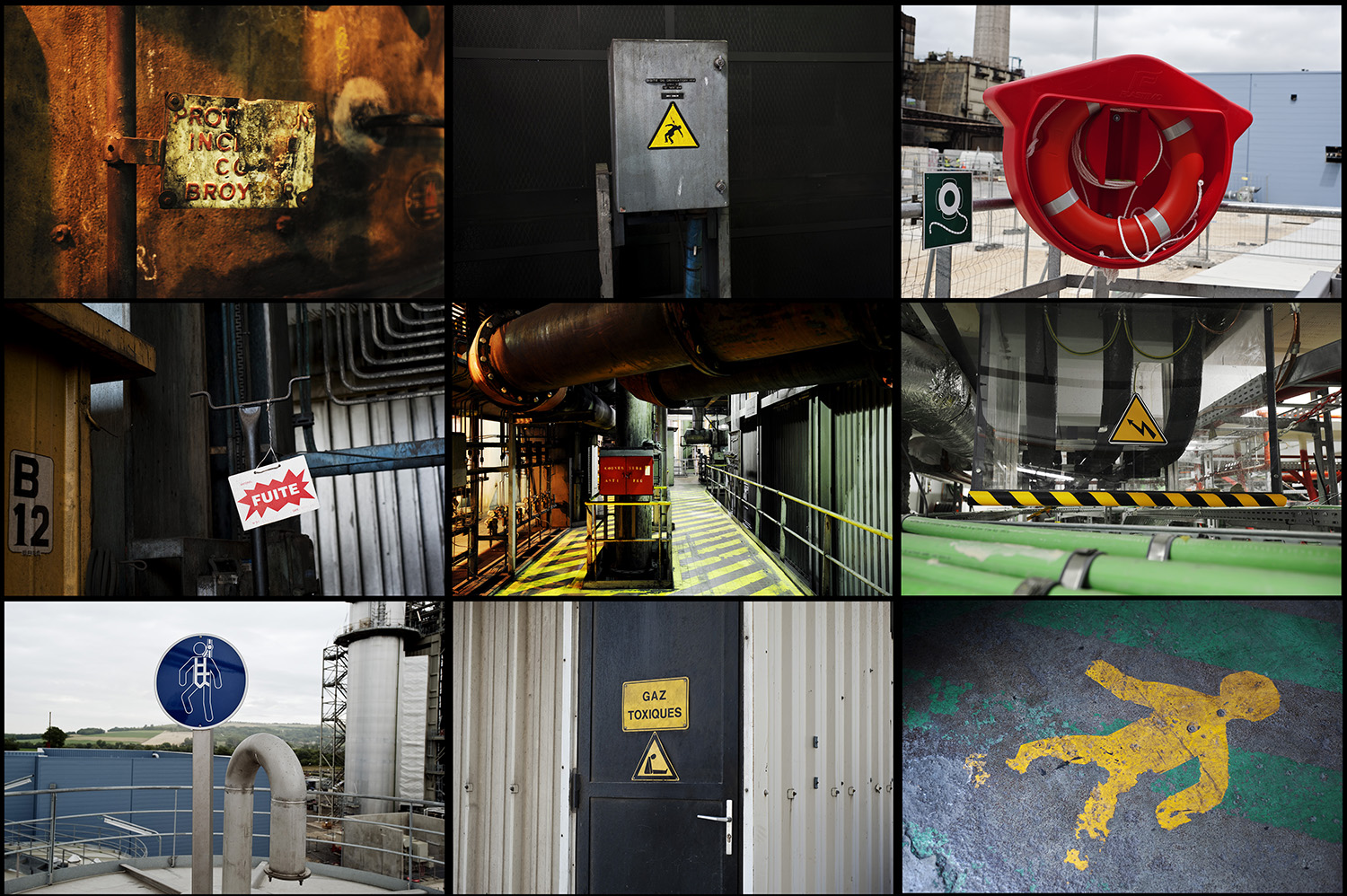 Warnings at La Maxe, Richemont, and Blénod (coal and combined cycle plants).