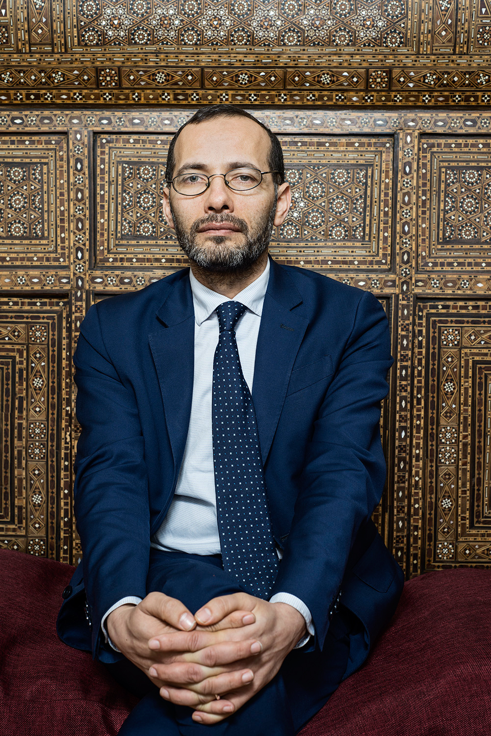 Izzedin Elzir (b. 1971, Hebron), Imam of Florence, President of the Union of  Islamic Communities in Italy. March 2015, Florence, Italy. For GQ Italia.